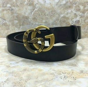 Well known Double G snake Buckle Gucci belt